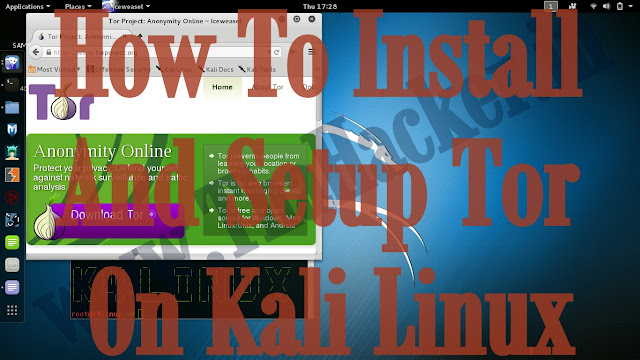 How To Install And Setup Tor On Kali Linux 2.0