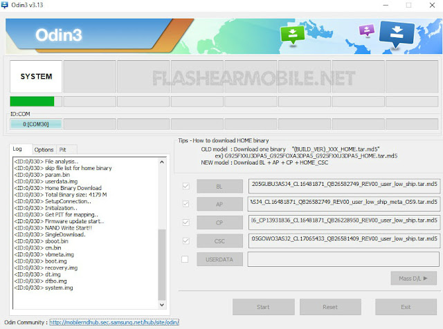 Flashear Samsung A20 con Odin3