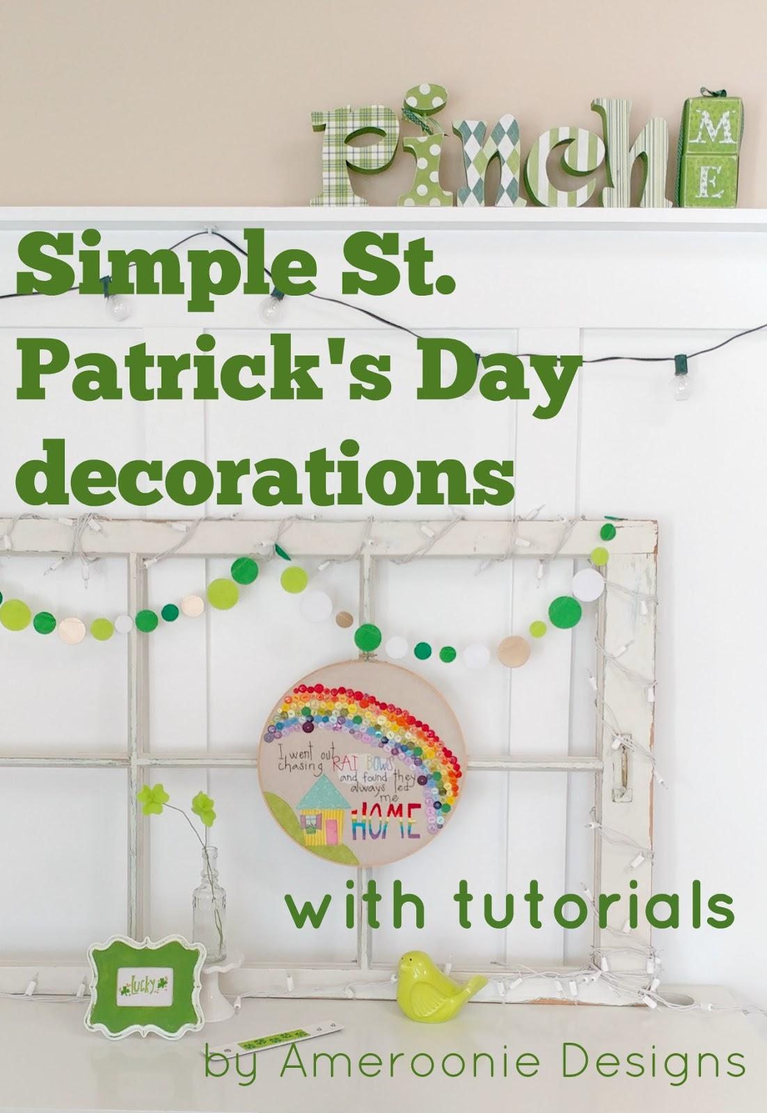 Ameroonie designs simple st patrick 39 s day decorations for St patricks day home decorations