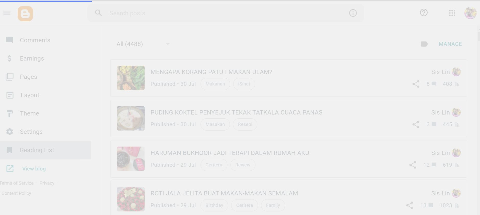 Kenapa Reading List Dashboard Blogger Aku Tak Boleh Baca Ni?