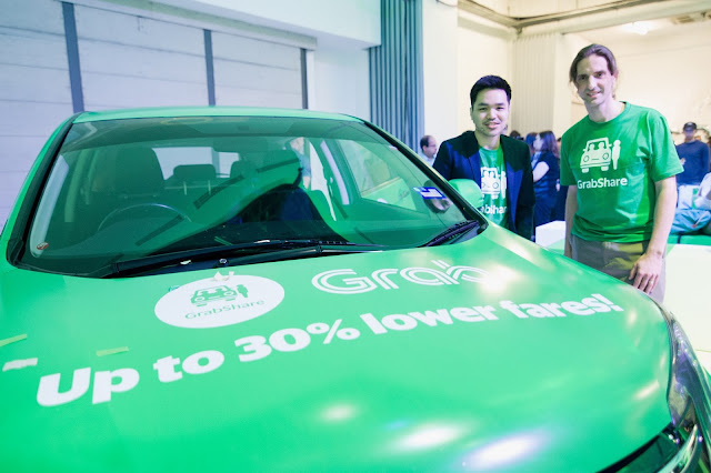 Carpooling Service (GrabShare) is now available on Grab