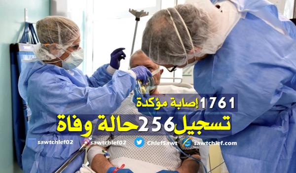 وزارة الصحة : 1761 إصابة مؤكدة و256 حالة وفاة