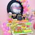 Baladinha neon é tema de festa de aniversário