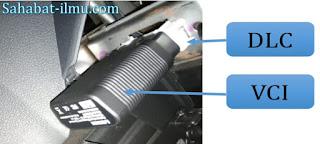 Cara memasang VCI scanner pada DLI