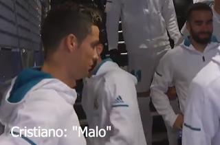 Video: Moment Cristiano Ronaldo calls rival Messi a