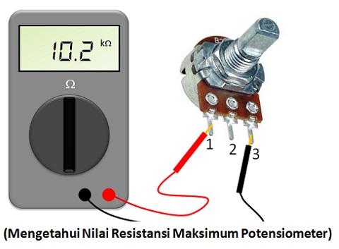 mengukur potensiometer