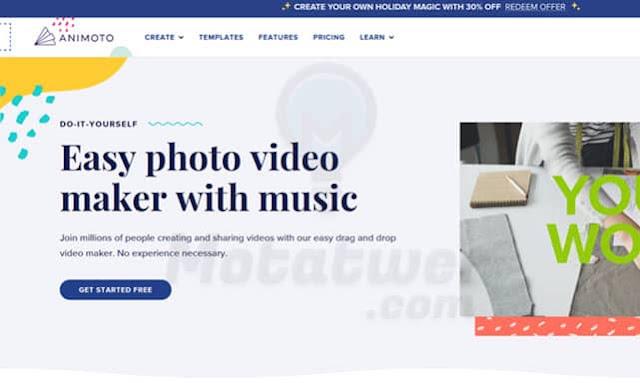 دمج الصور وتحويلها الى فيديو اونلاين