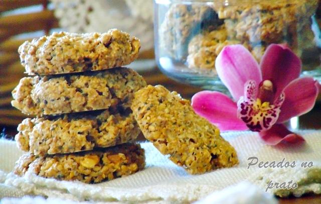 Receita dos biscoitos de aveia com manteiga de amendoim