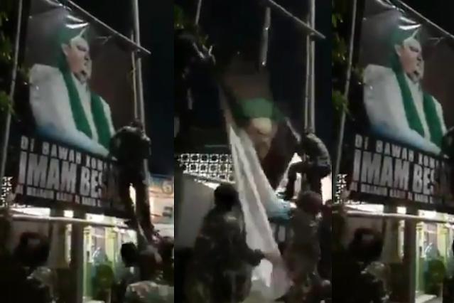 Pencopot Baliho Habib Rizieq, TNI atau Banser?
