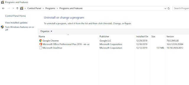 windows 10, uninstall windows 10 program