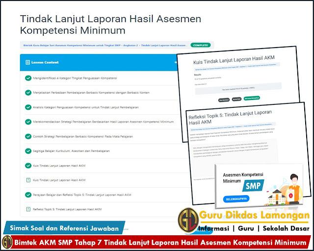 Bimtek AKM SMP Tahap 7 Tindak Lanjut Laporan Hasil Asesmen Kompetensi Minimum