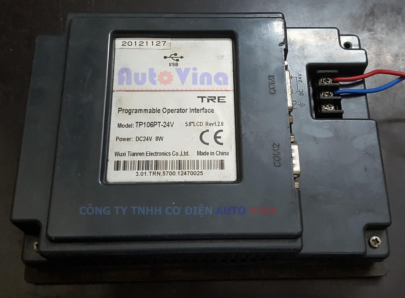 Sửa chữa màn hình TP106PT-24V, màn hình mất nguồn, màn hình không cảm ứng