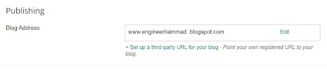 Place to add up third party URL