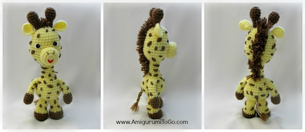 crochet giraffe tail