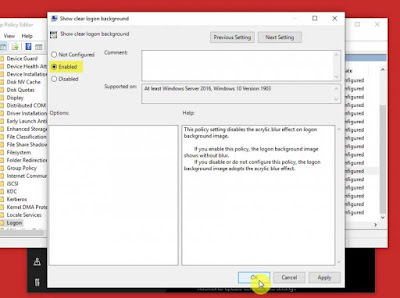 Inilah Cara Menonaktifkan Efek Blur Pada Halaman Sign In Windows 10 (19H1) Terbaru