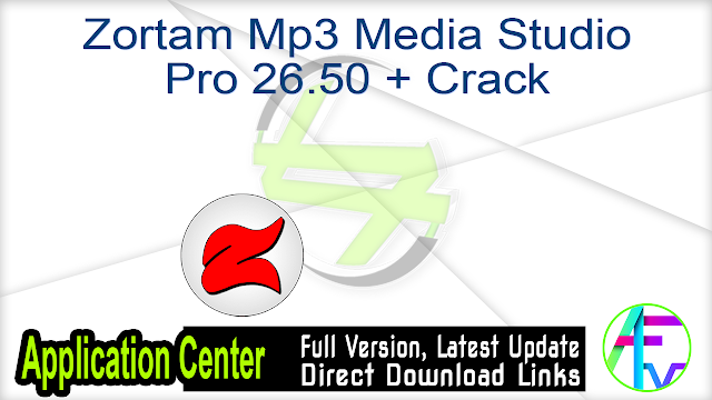Zortam Mp3 Media Studio Pro 26.50 + Crack