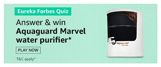 Eureka Forbes Quiz answer and win