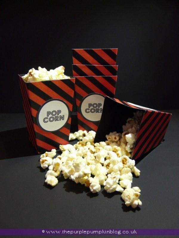 Halloween Snack Popcorn Boxes at The Purple Pumpkin Blog