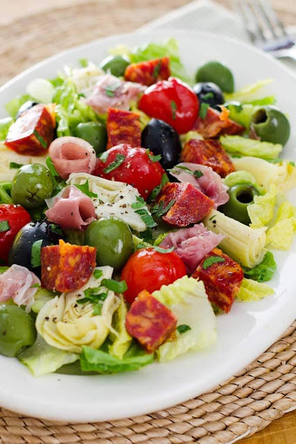 Antipasto Salad Recipe | Photo Courtesy of Cook Eat Paleo