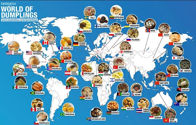 comidas tipicas desenhadas em um mapa mundi