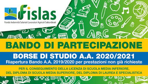 APERTURA BANDO BORSE DI STUDIO FISLAS 2021