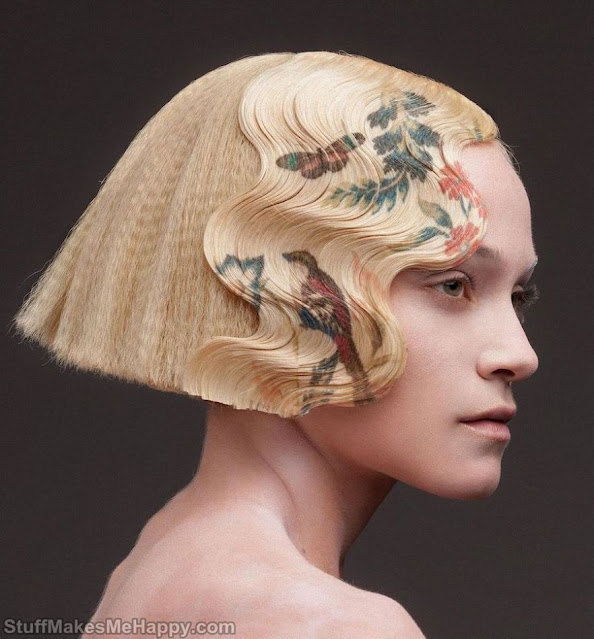This Hairdresser Develops A Digital Printing Technique On The Hair