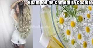 shampoo de camomila caseiro