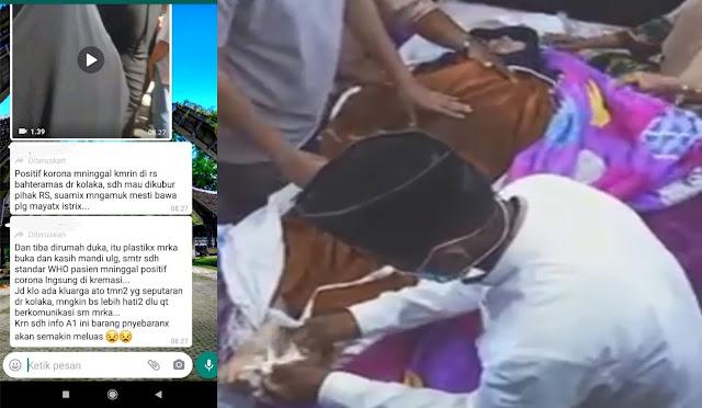 Korban Virus Corona Mau Dikubur keluarga Maksa bawa Pulang untuk dimandikan