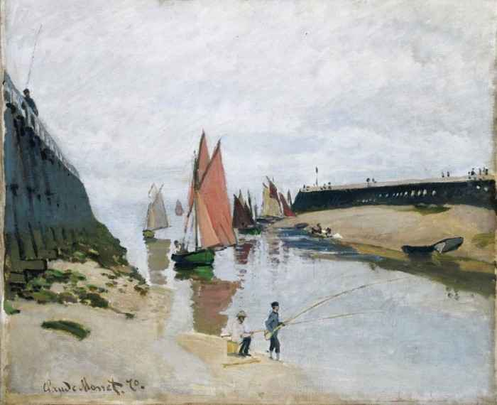 Entrance to the Port of Trouville