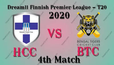 Who will win HCC vs BTC 4th T10I Match