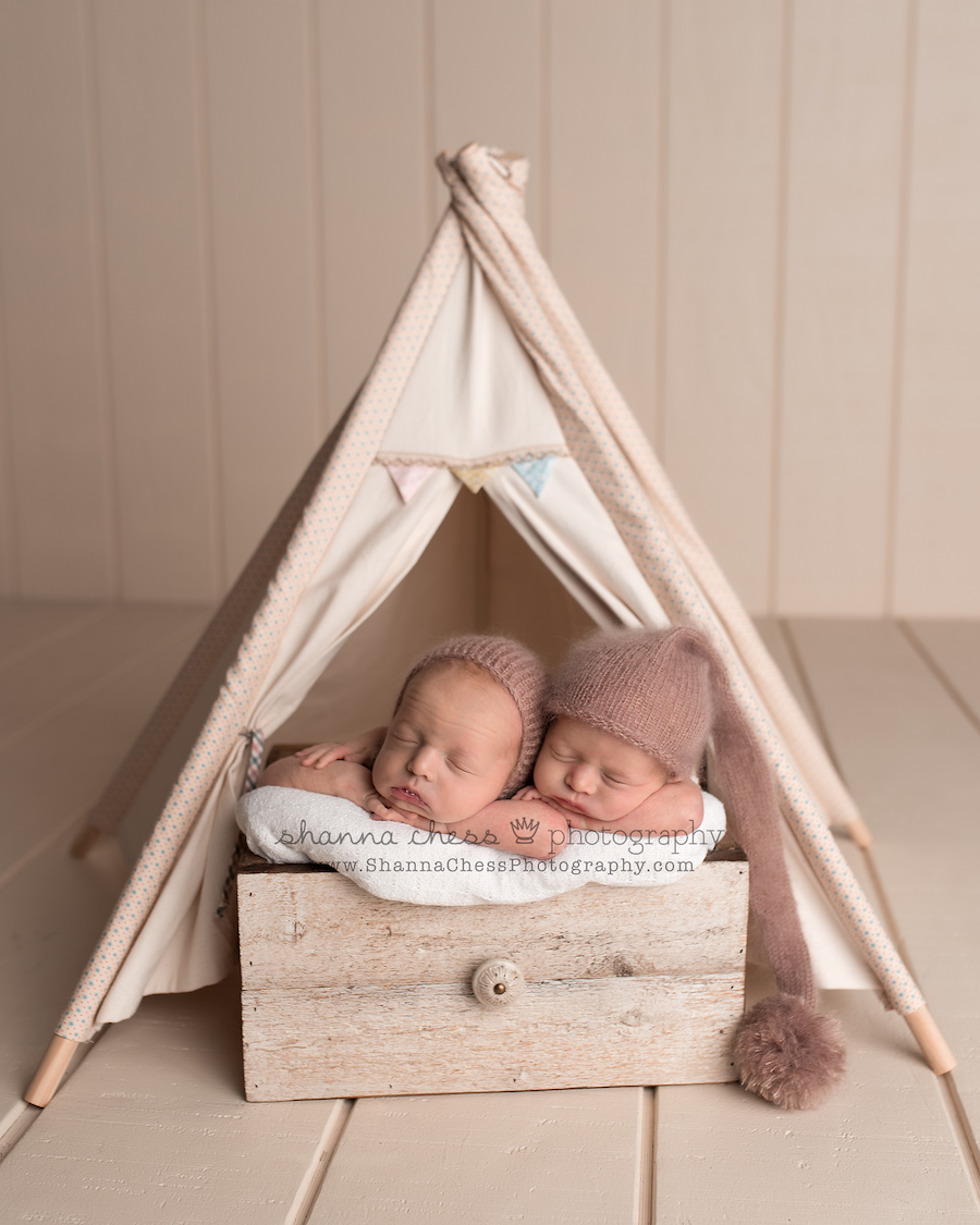 eugene oregon twin newborn photography