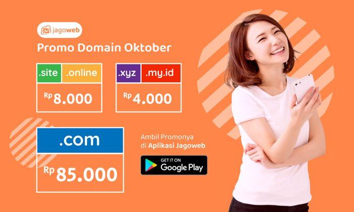 Promo Domain Jagoweb Oktober 2020 - JAGOWEB