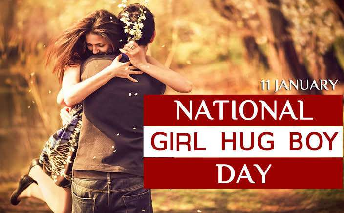 National Girl Hug Boy Day Wishes Images download