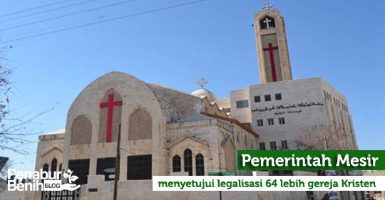 Pemerintah Mesir menyetujui legalisasi 64 lebih gereja Kristen