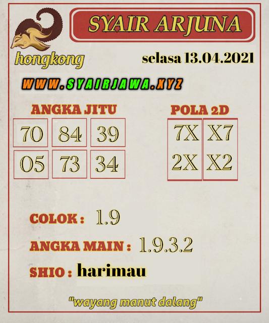 Syair HK Arjuna 13 April 2021