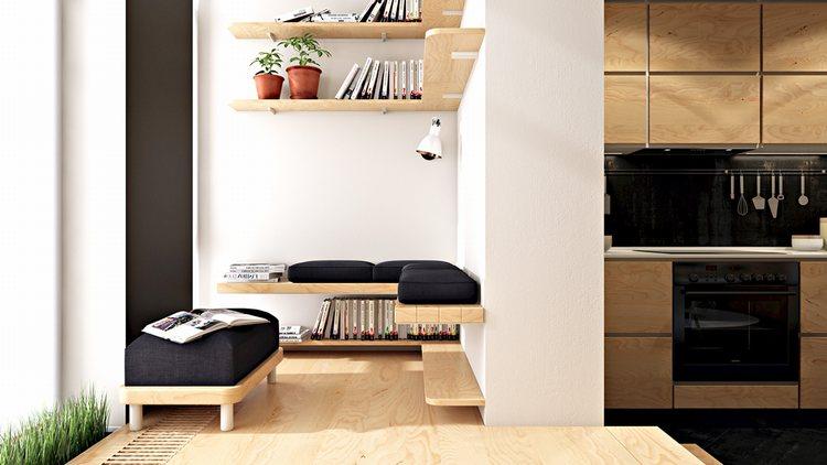 thiết kế tủ kệ trưng bày độc đáo