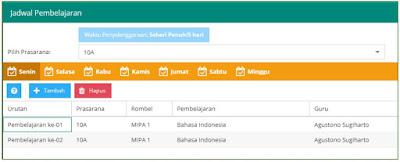 jadwal pelajaran bahasa indonesia