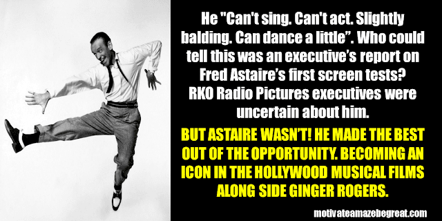 Success Stories From Famous People Who Failed Before Succeeding: Fred Astaire