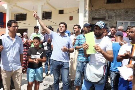 """تجدد الإحتجاجات بعلال البحراوي بسبب فاجعة احتراق الطفلة""""هبة"""" (فيديو)"""