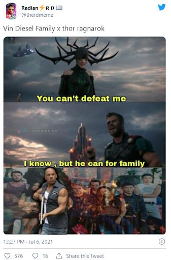 Vin Diesel family X thor