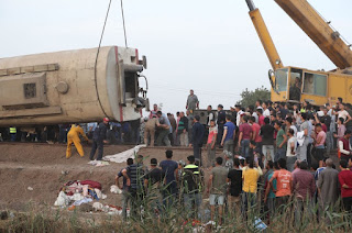 Toukh train accident in Egypt