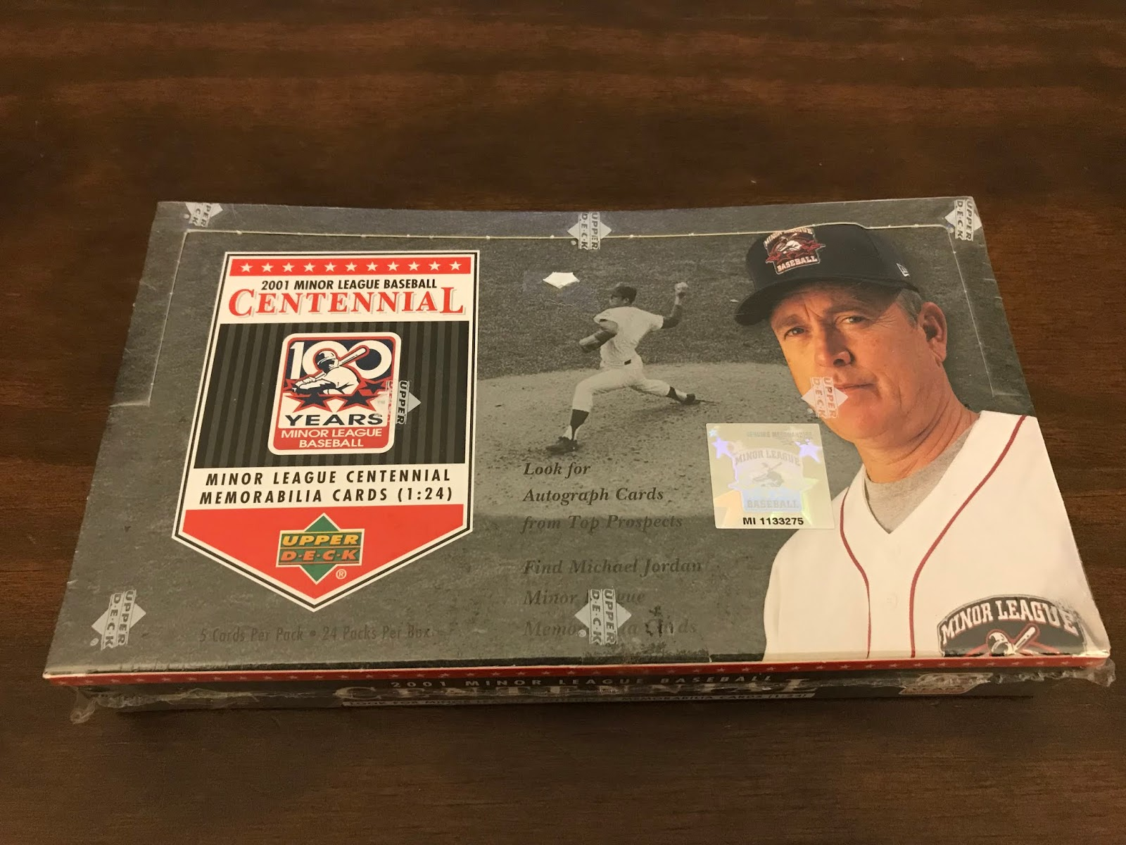 0779347945 ... been looking to add a few more minor league products to the break  folder. This week we bust a box of 2001 Upper Deck Minor League Centennial  Baseball!