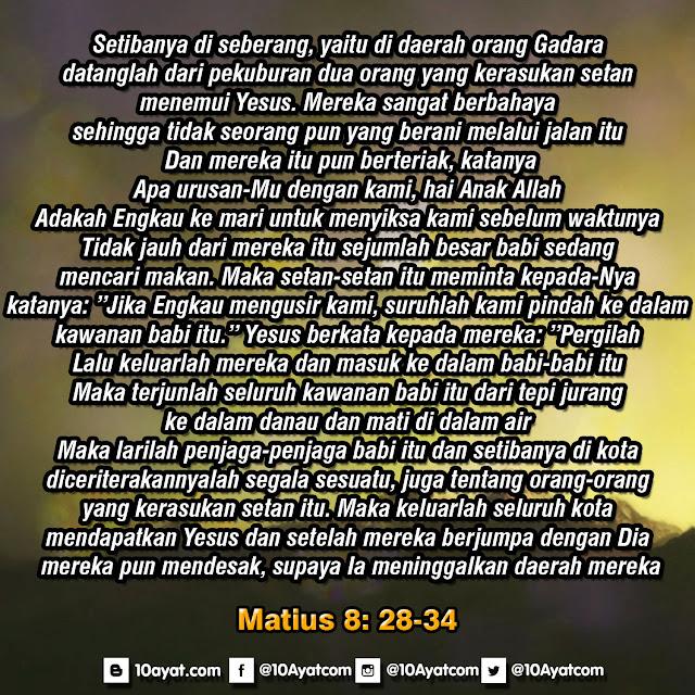 Matius 8: 28-34
