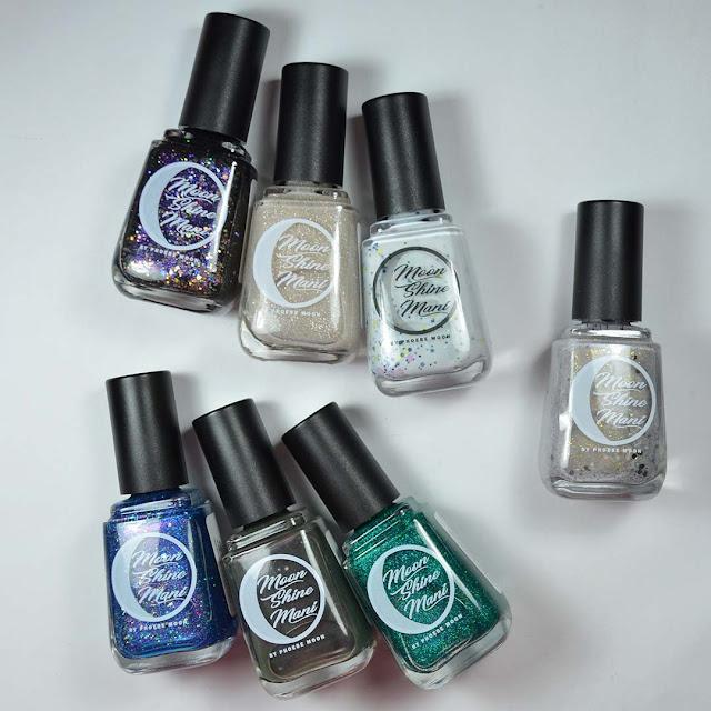nail polish bottles arranged in a flat lay