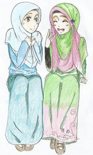Gambar Kartun Wanita Muslimah 2017 Kartun Muslim T