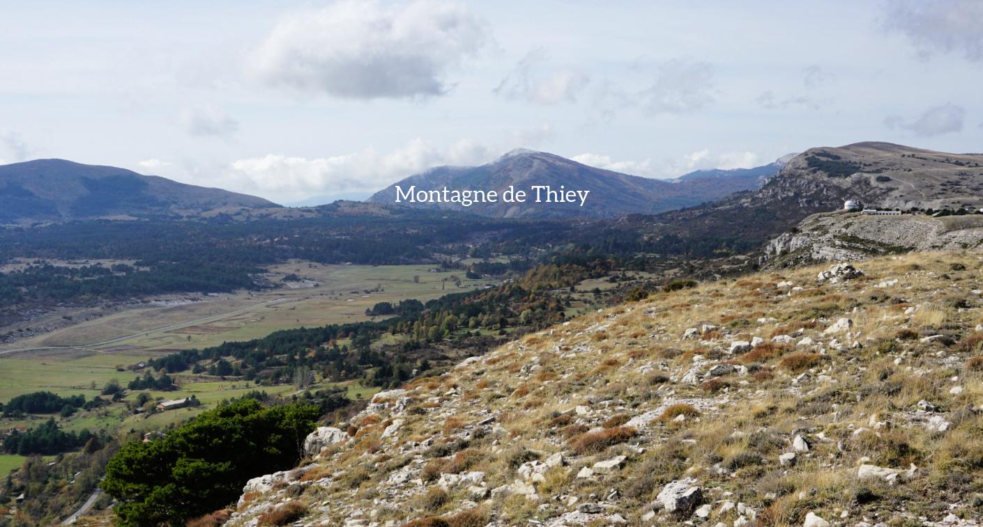View to west from La Colle de Rougiès