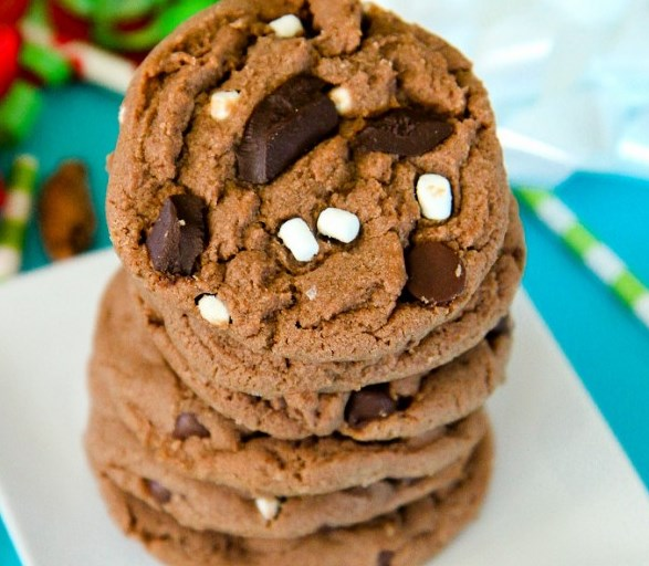 HOT CHOCOLATE COOKIES #desserts #christmas