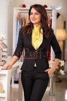 Sacou negru cu guler tunica