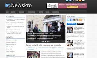 News Pro Responsive Blogger Template