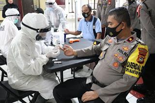 Personel Polres Pelabuhan Lakukan Rapid Test Sebelum Pengamanan TPS